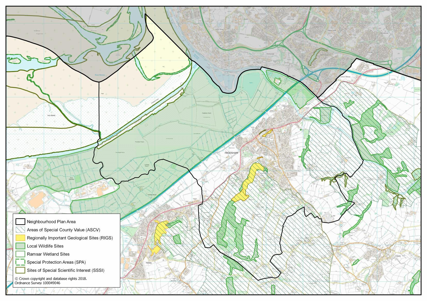 Frodsham Nature Designation Map